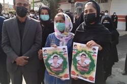 مراسم تشییع پیکر مدافعان وطن در شهرستان دره شهر