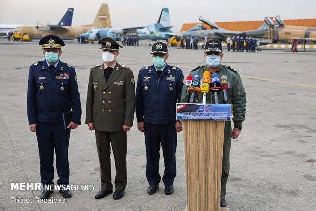مراسم تحویل هواپیماها و بالگردهای بازامد شده به نیروهای مسلح