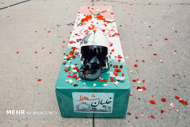 مراسم استقبال از پیکر مطهر خلبان شهید «بیرجند بیک محمدی»