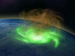 گردباد فضایی بالای قطب شمال رصد شد