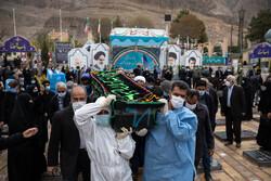 مراسم تشییع پیکر مادر سردار شهید علی شفیعی