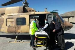 انتقال مادر باردار بیمار از شهرستان پاوه به بیمارستان امام رضا(ع)