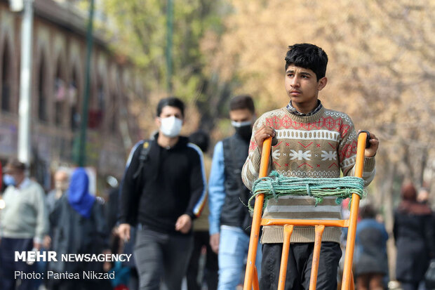 شلوغی بازار تهران در روزهای کرونایی