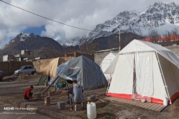 ۱۰۷۰واحد زلزله زده در شهر سی سخت پی ریزی شده است