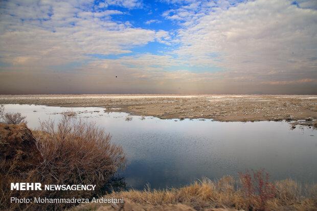 Band-e Alikhan wetland in south of Tehran