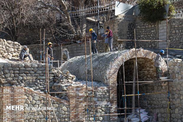Tahran'ın tarihi mahallesindeki restorasyon sürecinden fotoğraflar