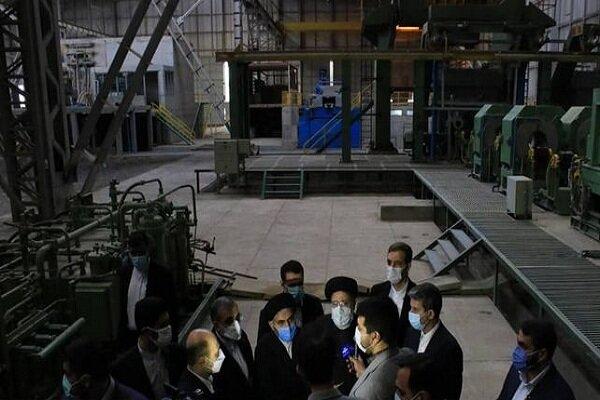 بازدید رئیس قوه قضائیه از کارخانه فولاد ارومیه
