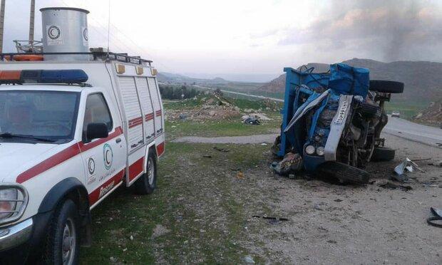 واژگونی وانت در محور نجف آباد ۶ مصدوم داشت