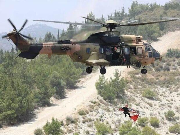 ترکی کا ہیلی کاپٹر گر کر تباہ/ 2 جرنیلوں سمیت 10 فوجی اہلکار ہلاک