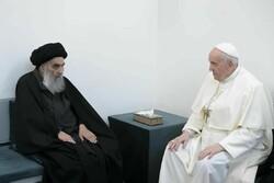 نجف اشرف میں دنیا کے کیتھولک رہنما نے آیت اللہ سیستانی سے ملاقات کی