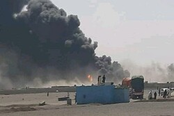 Extensive fire at Farah customs on Iran-Afghanistan border
