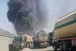 اندلاع حريق ضخم في منطقة حدودية بين إيران وأفغانستان