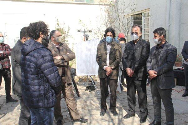 بازدید مدیرعامل فارابی از پشتصحنه فیلم «بدون قرار قبلی»