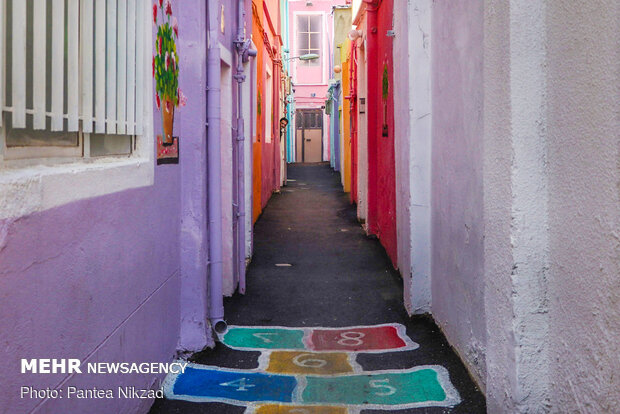 Colourful Alley in Tehran