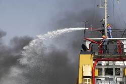 Marine rescue maneuver in Bandar Abbas