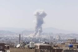 انفجارات عنيفة تهز صنعاء إثر قصف جوي شنه العدوان السعودي
