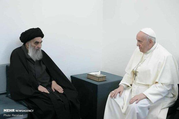 مرکز گفتگوی ادیان درباره دیدار آیتالله سیستانی و پاپ بیانیه داد