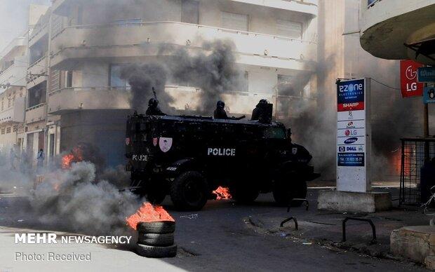 Senegal'deki protestolardan fotoğraflar