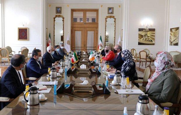Zarif meets with Irish FM in Tehran