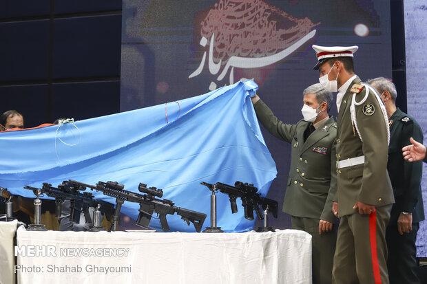 سلاح تهاجمی تمام ایرانی «مصاف» رونمایی شد/ نمایش چند سلاح ورزشی