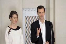 الرئاسة السورية: الأسد وعقيلته في مرحلة التعافي من كوفيد 19