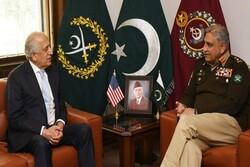 خلیلزاد با رئیس ستاد مشترک ارتش پاکستان دیدار کرد