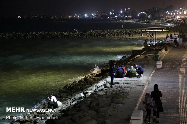 شب های ساحل بندرعباس