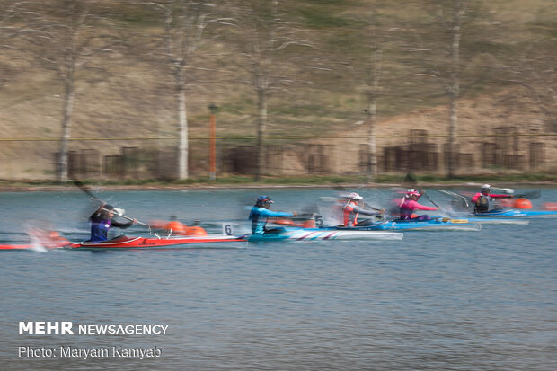 Canoeing competition held at Azadi Lake