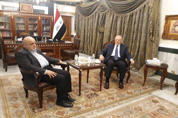 Masjedi, Iraqi minister discuss releasing Iran's assets