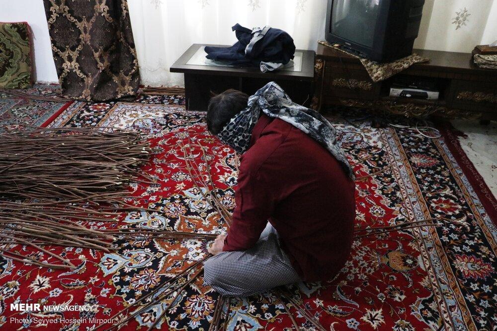 Twig weaving in Razavi Khorasan