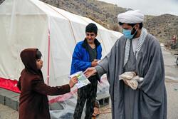 ایران کے زلزلہ سے متاثرہ علاقہ سی سخت میں علماء کا حضور