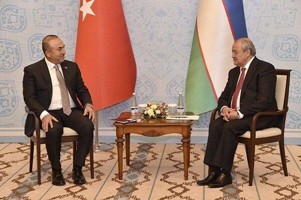 Çavuşoğlu Özbek mevkidaşı ile Karabağ'ı görüştü