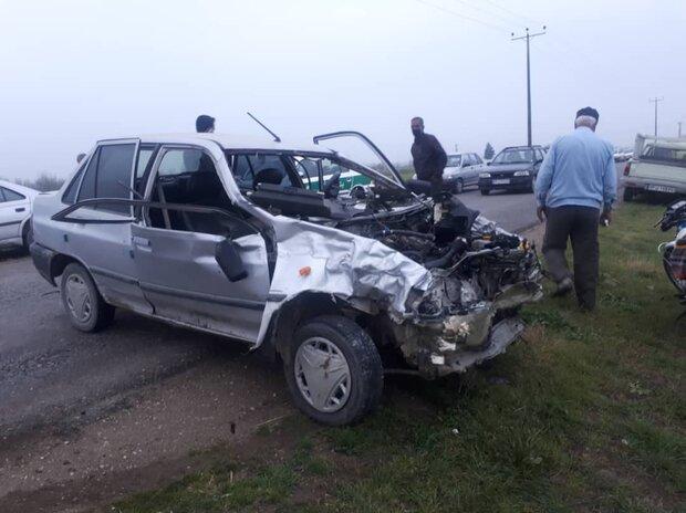 تصادف پراید با کامیون در چهارمحال و بختیاری ۲ کشته بر جای گذاشت