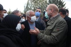 حضور رئیس مجلس شورای اسلامی در گلزار شهدای سنندج