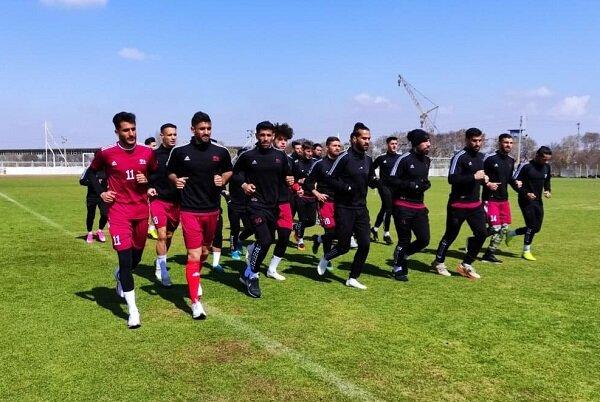 تمرین امروز تیم فوتبال تراکتور زیر نظر رسول خطیبی