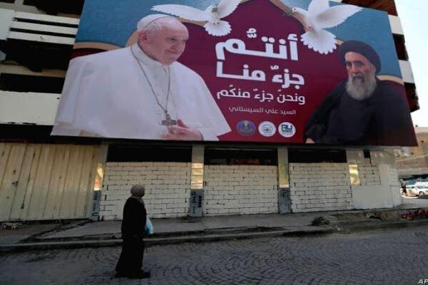 دیدار پاپ با آیتالله سیستانی/پیام های شفاف،صریح و قاطع