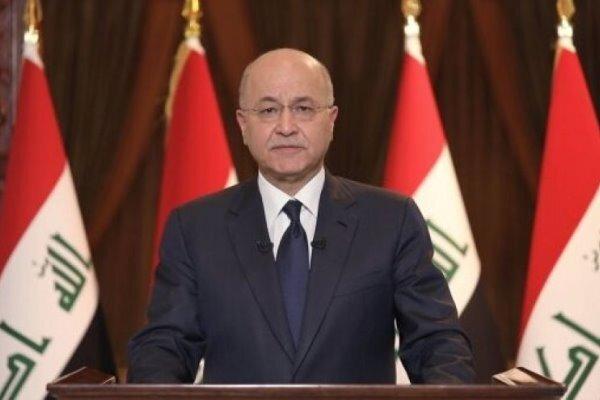 واکنش «برهم صالح» به انفجار تروریستی در شهرک صدر بغداد