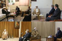 دیدار وزیر کشور با مراجع و علما در قم