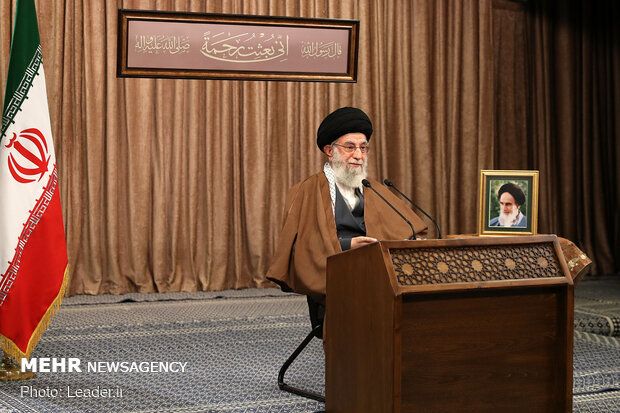Leader delivers speech on Eid al-Mab'ath
