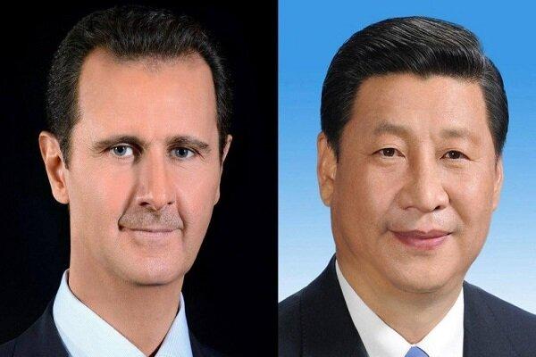 الرئيس الصيني يرسل رسالة إلى نظيره السوري