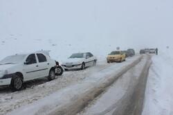 ۶ جاده استان سمنان به دلیل بارش برف مسدود است