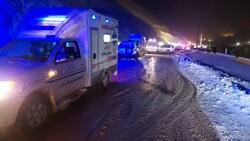 واژگونی اتوبوس در جاده چالوس یک کشته و ۱۹ مصدوم برجا گذاشت