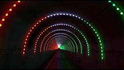 اجرای بزرگ ترین تونل نوری کشور در بوستان نهج البلاغه