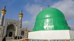 صحن الرسول الاعظم اخضرّ بقبة الحرم النبوي الشریف