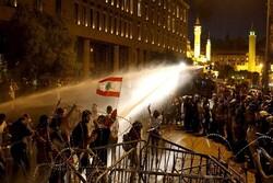 ناآرامی در اطراف پارلمان لبنان/ هجوم به دروازه آهنی