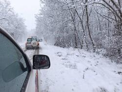 نجات زن باردار گلستانی از محاصره برف