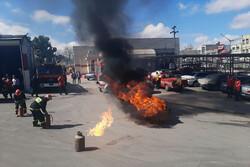 نشست خبری و مانور آتش نشانی کرمانشاه برای چهارشنبه آخرسال