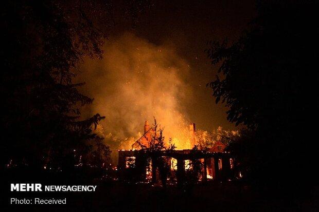 نیوجرسی کے جنگلات میں لگی آگ نے شدت اختیار کرلی