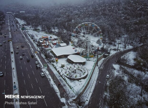 Heavy snowfall welcomes spring