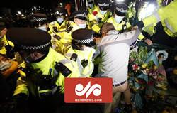 لندن میں بدامنی کے خلاف ہزاروں افراد کا احتجاج